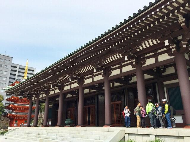 福岡バイクツアーページの東長寺の写真